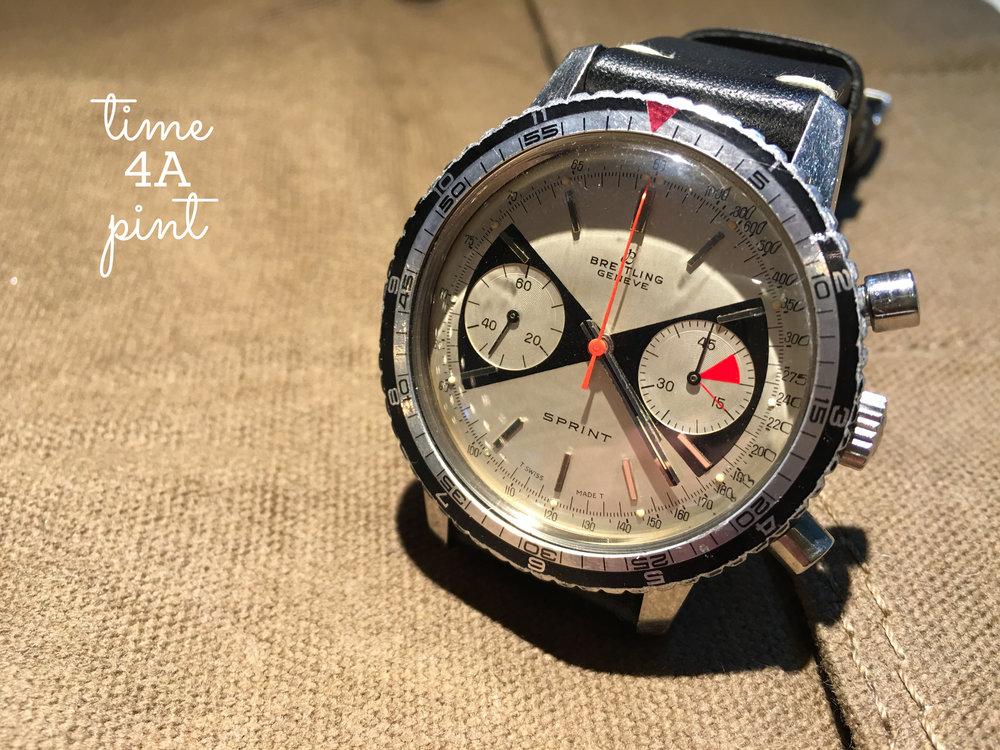 Breitling Sprint Chronograph Ref. 2010 aka. Bowtie/Zorro (Valjoux 7733)