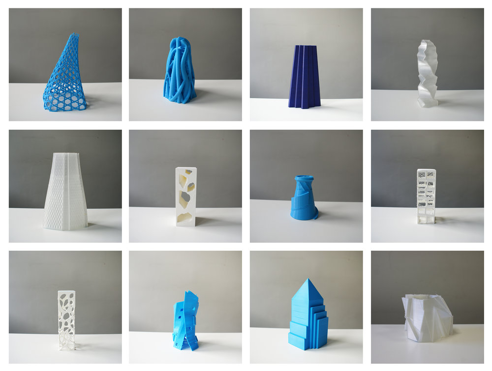 Student work: 3d printed tower designs