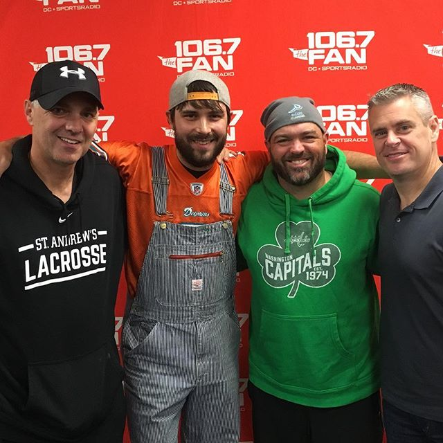 Thanks again to The Sports Junkies @1067thefan for having us this morning. Long time listeners, great to finally meet the Junks!! @cbsradio @cbssports