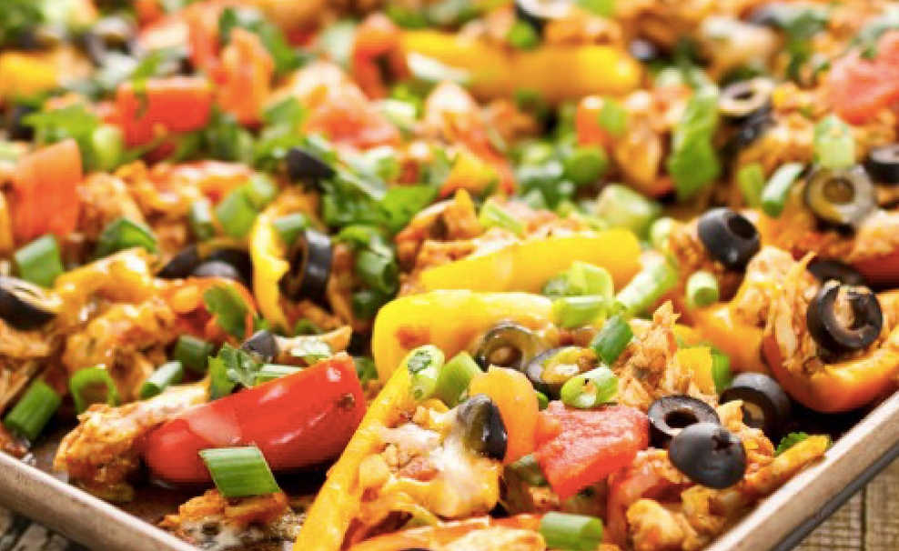 Chicken Pepper Nachos