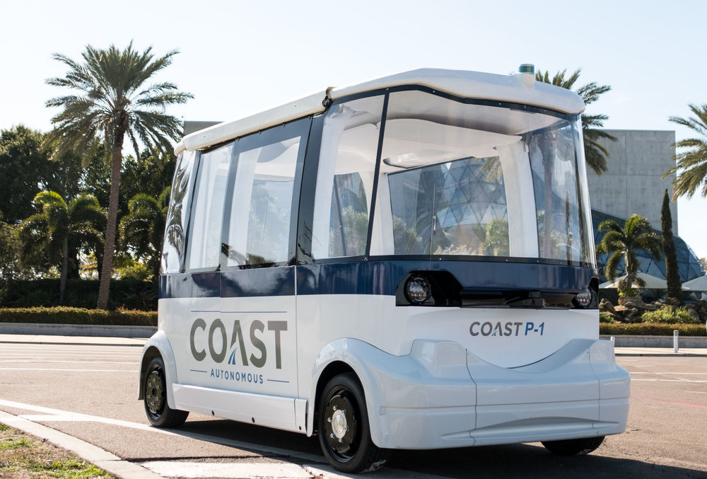 VEHICLES - Developed by the team of pioneers who designed the world's first commercially available driverless shuttle, Coast's lineup of award-winning, self-driving vehicles offer a wide range of mobility options for any need.
