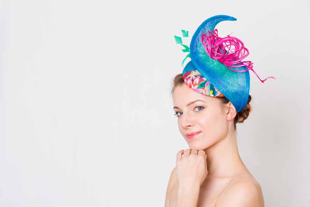 Mainly working with sinamay, she aims to create unique shapes and hats for her showstopping clientele! Feathers and flowers are central pieces to this new collection, and that is all you have to wear this summer. As ascot is approaching, please feel free to pop into our boutique, where we have showcased all of our millinery, we would love to offer you a glass of champagne whilst browsing, such fun! Katherine can also create something special for you to match your amazing outfit taking into account your style, personality, colour and cut. You will be the best Dressed at the Ascot Races 2017.