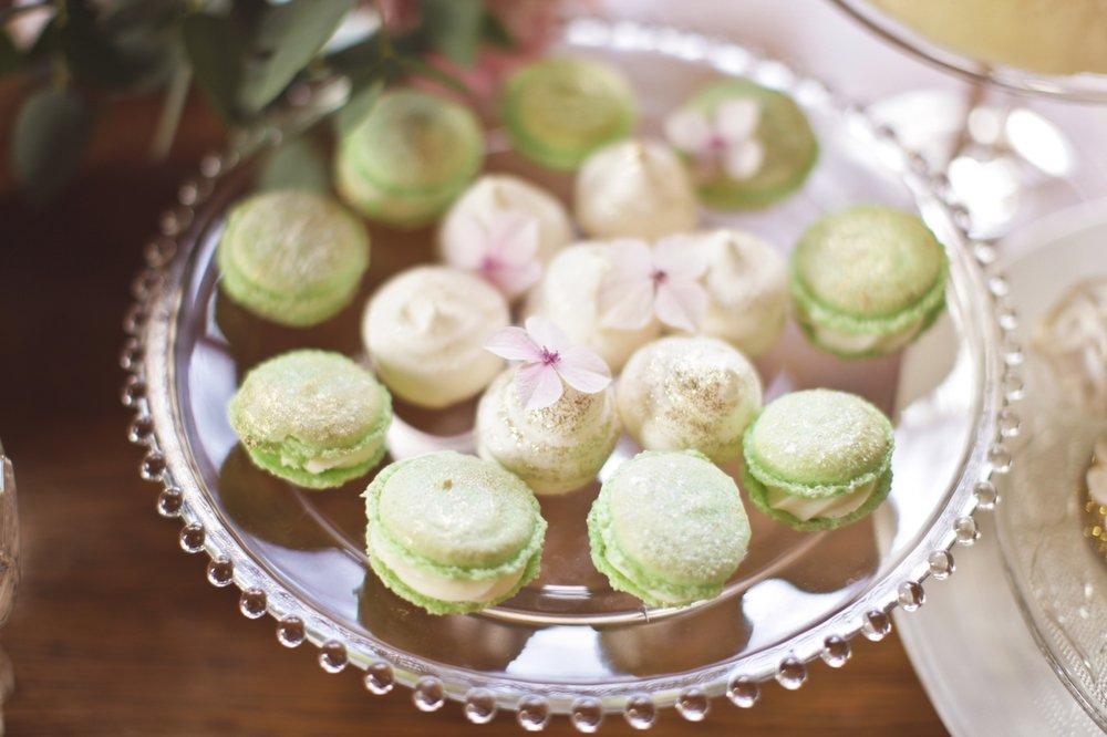 green and gold macaron, wedding macaron, dessert table.jpg