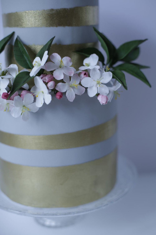 Wedding cake london apple blossom
