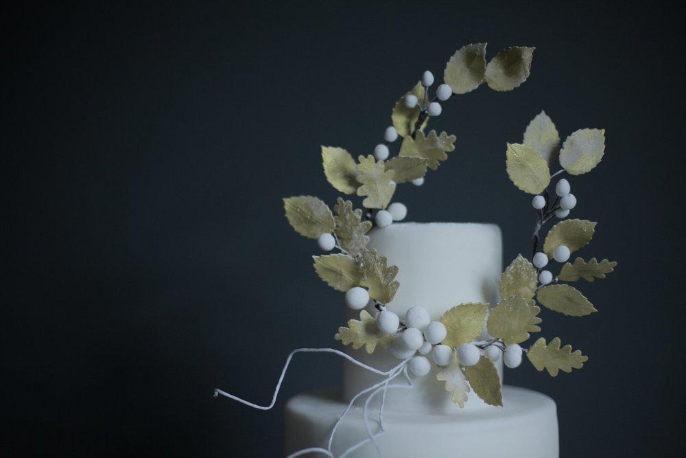 Classic winter wedding cake