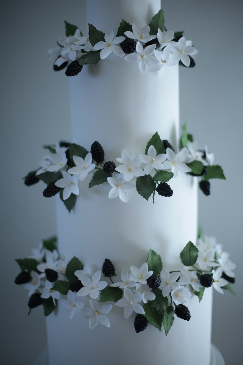 Blackberry wedding cake