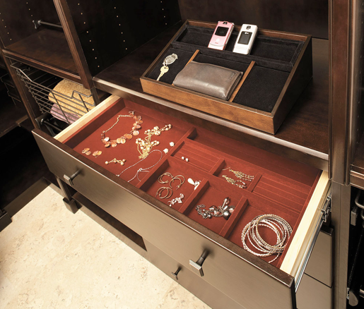 Closet Shelving for Jewelry