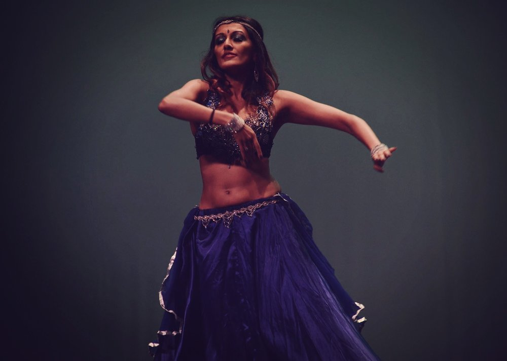 Binita performing Fusion Bellydance at Y Theatre, Hong Kong