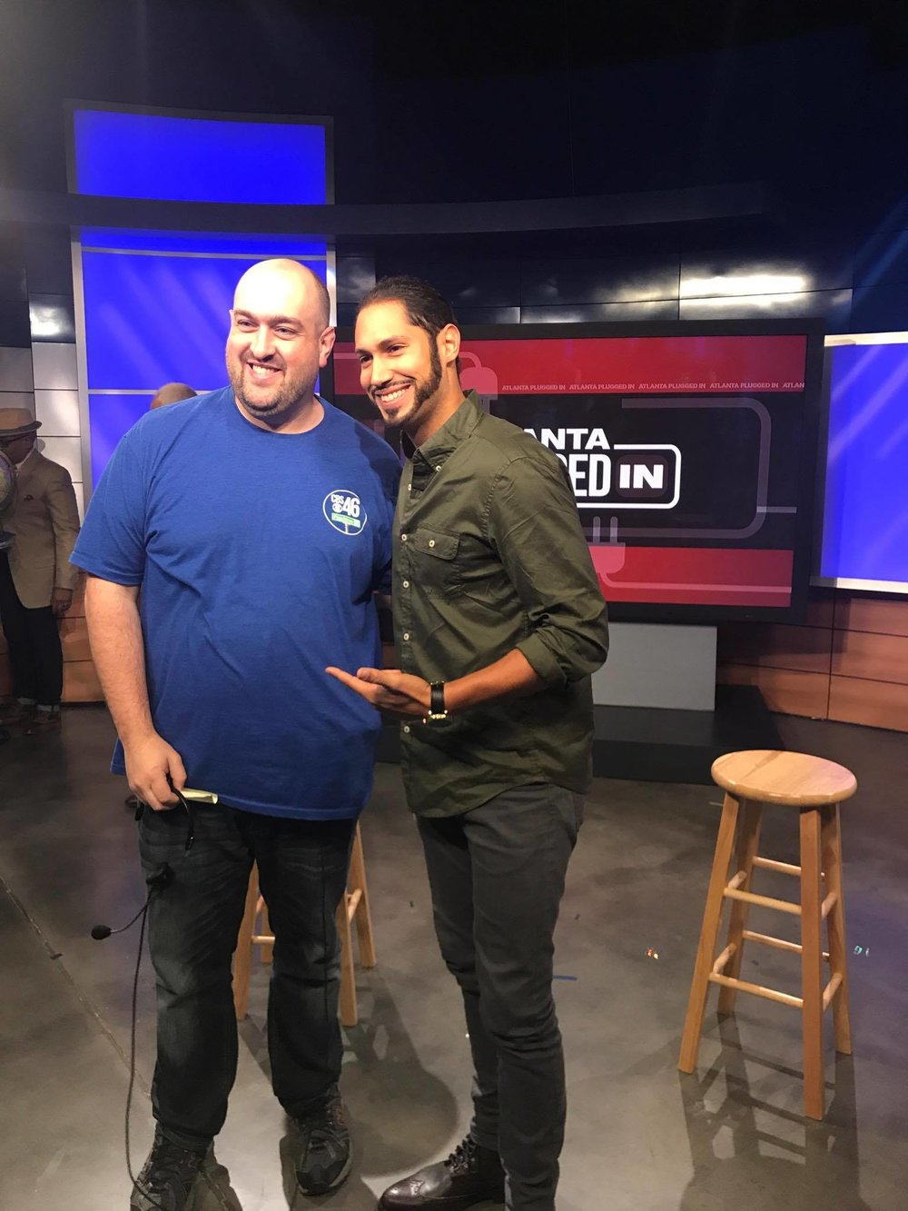 Peter with CBS46 producer, Peter Lancaster.