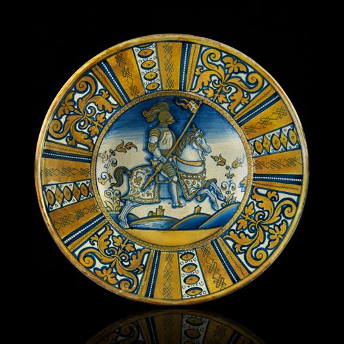Deruta majolica dish, c 1540
