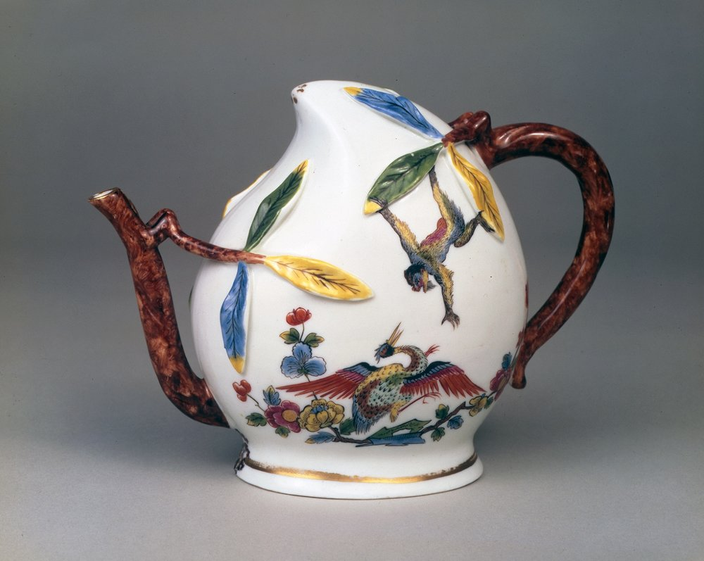 Meissen Cadogan Teapot/Winepot of Peach Shaped Form, Circa 1725-30  © Brian Haughton Gallery