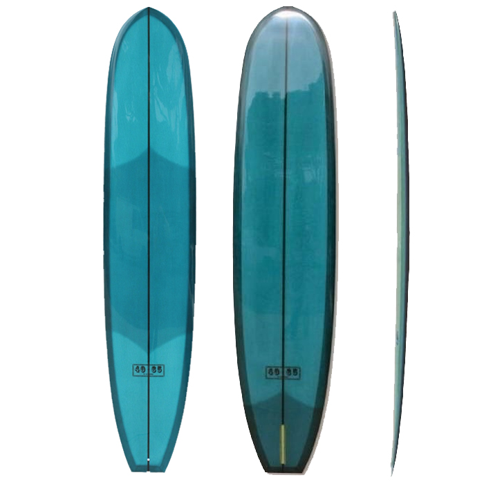 40-65 - If there was an El Camino of surfboards, this would be it. A solid classic with clean, semi-parallel template and a rolled bottom with some blended concave in the nose. The rocker is flat in the middle for speed, with kick in the tail for whippy turns and lift.DIMENSIONSLength            9'6 – 10'6