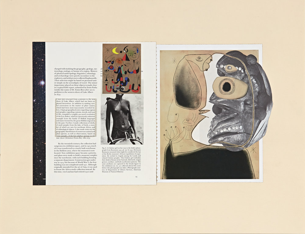 re: History—Affinities (Miro, Chokwe) - Paper (periodicals) collage on paper18 x 23 in. collage