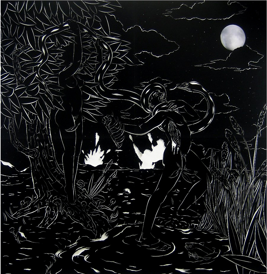 he Last Days of Eden #1 - velour paper79 x 79 in.