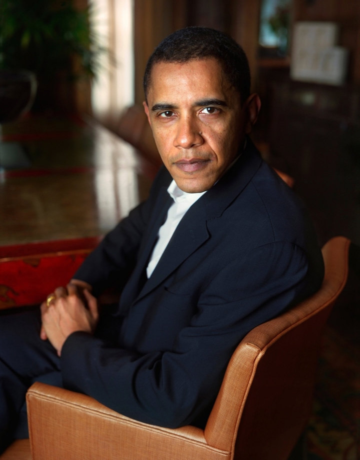 "Dawoud Bey, ""Barack Obama"" (2007), pigment print 30 X 24 inches (© Dawoud Bey )"