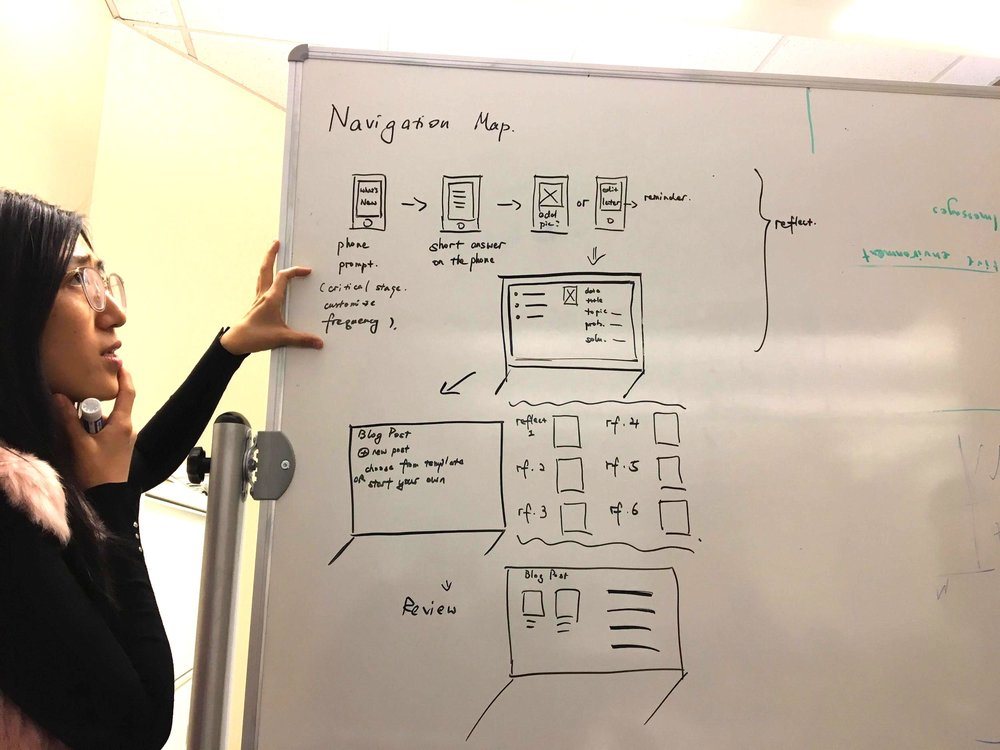 Experimenting with user flow in our designconcept