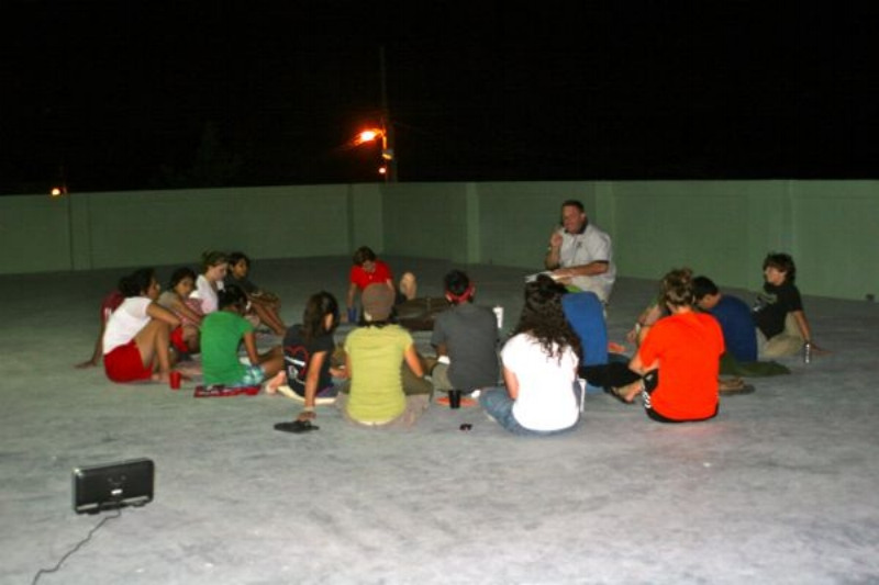Teaching youth & roasting marshmellows in Mexico