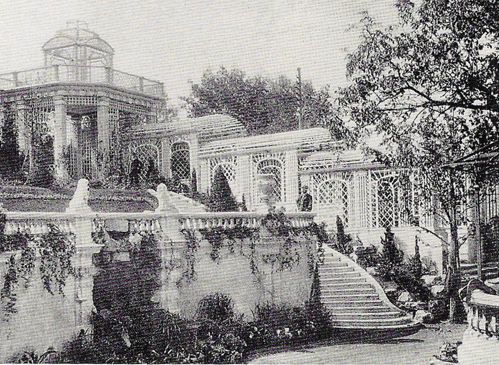 Der Garten kurz nach Fertigstellung 1905