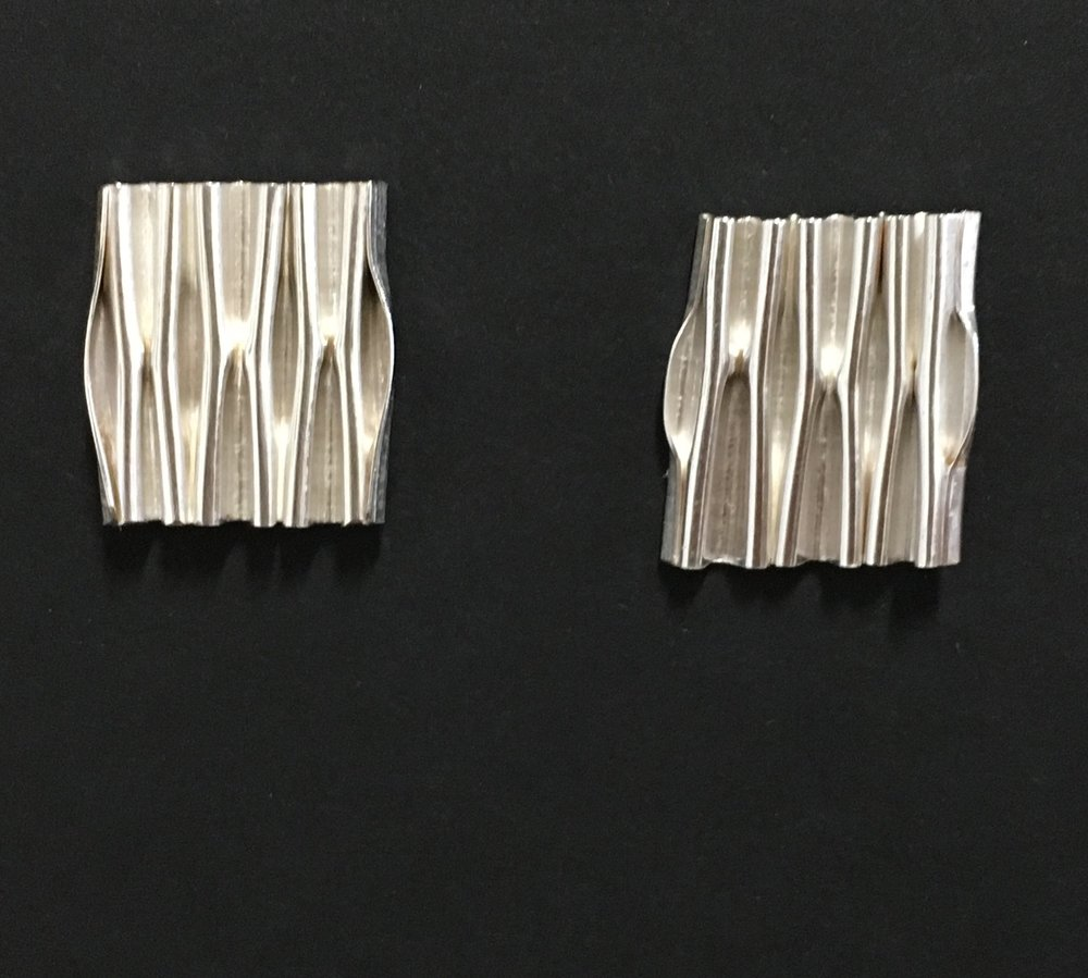 Micro-foldformed Sterling Earrings