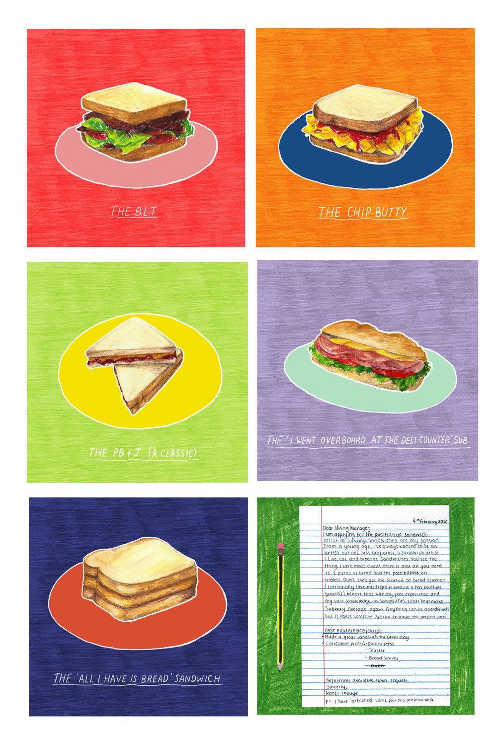 Sandwich Artist application for Subway