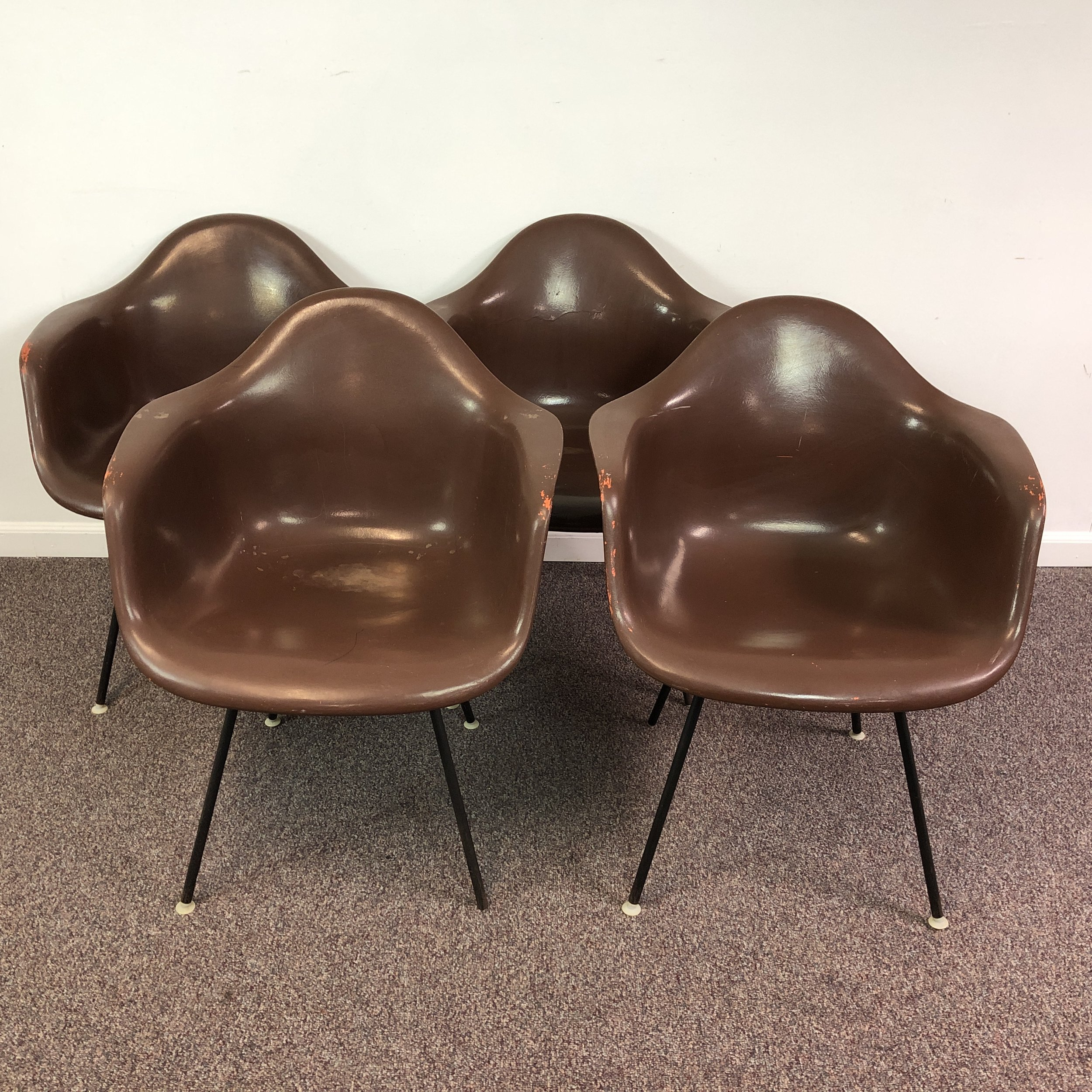 Eames Original Fiberglass Miller Single W For H Chair Shell Herman kiuOPZX