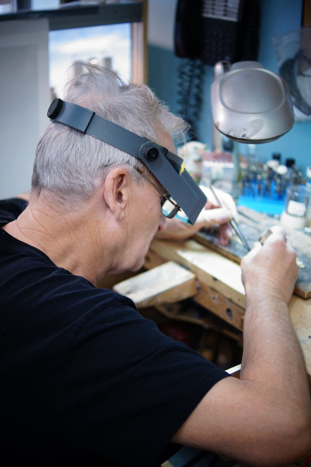 We have a Master Craftsman in store who does all of our repairs and resizing, he can fix most items the same day. Please see our  repairs  page to contact us regarding prices. The cost of repairs is dependant on the time taken and materials used. If you have lost a stone in a ring we can source a new stone for you and set it so that it is secure. We also clean items as you wait - free of charge!