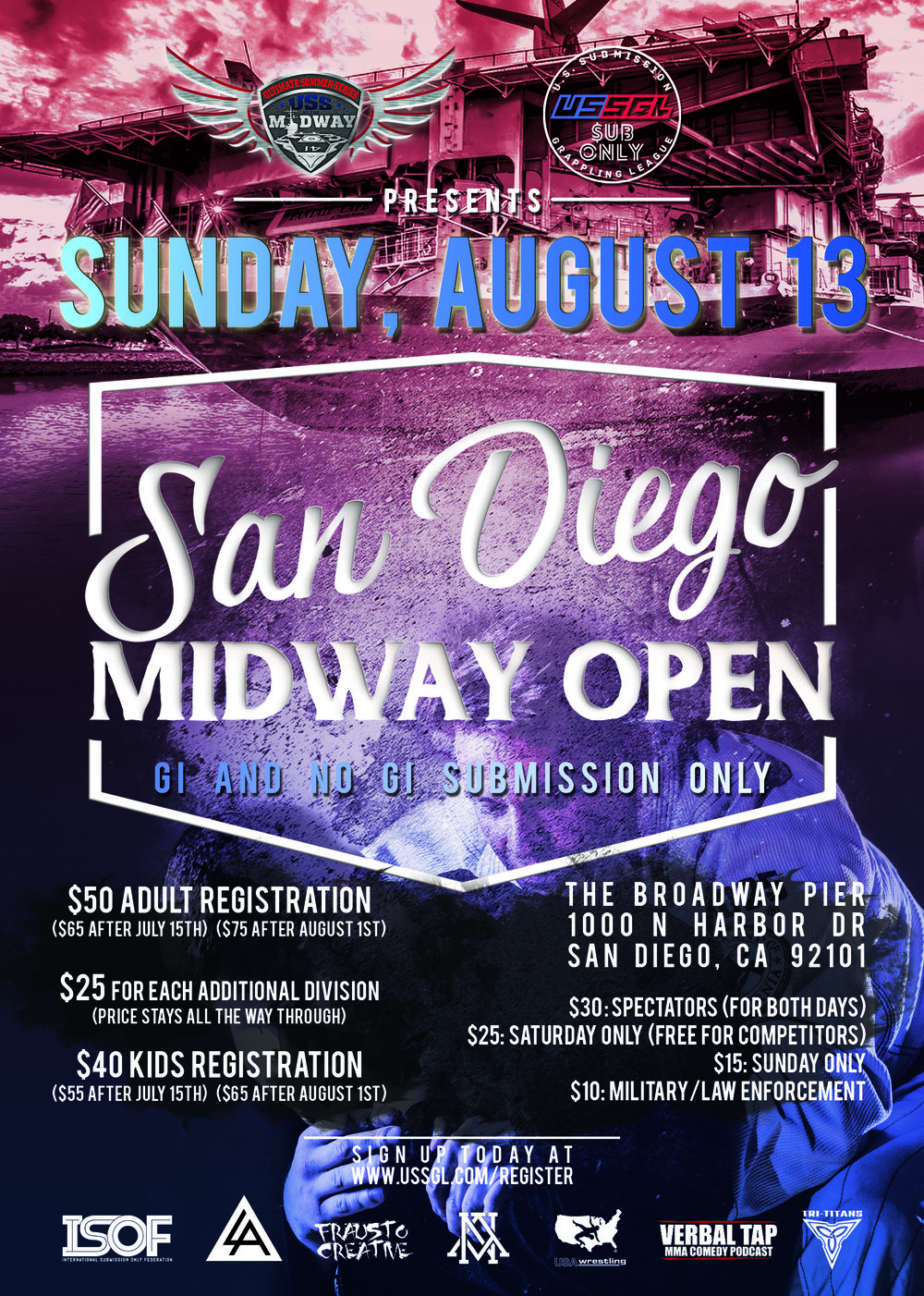 SD MIdway Open - August 13, 2017Weigh Ins On Site, 9 AMSCHEDULE