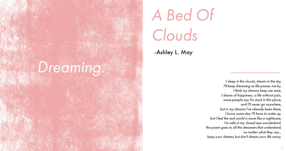"""A Bed Of Clouds"" - Ashley L. May's Poem Layout"