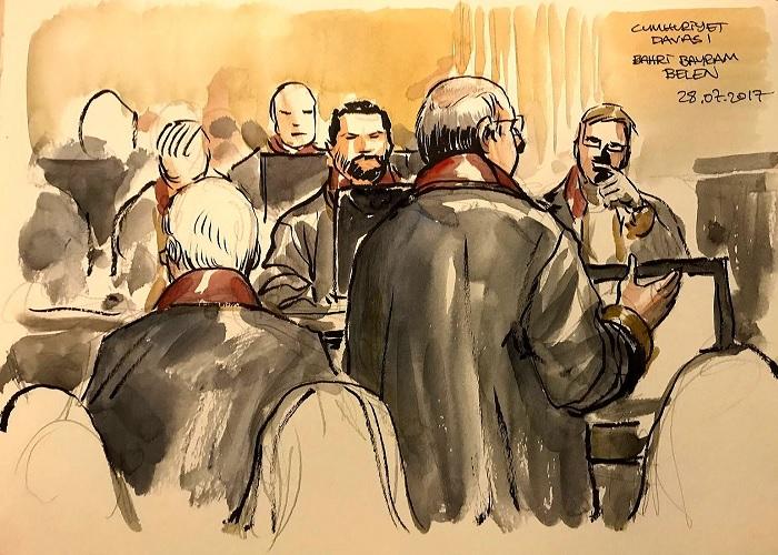 E' ripreso  il processo  ai lavoratori del quotidiano turco Cumhuriyet. A luglio il tribunale aveva concesso la libertà condizionata a sette degli undici imputati in detenzione cautelare. Sono accusati di aver sostenuto il terrorismo, di avere legami con il Pkk curdo e con Feto, il movimento legato a Fethullah Gulen al quale le autorità di Ankara addebitano la responsabilità del fallito colpo di stato del 15 luglio 2016. Rischiano fino a 43 anni di carcere.