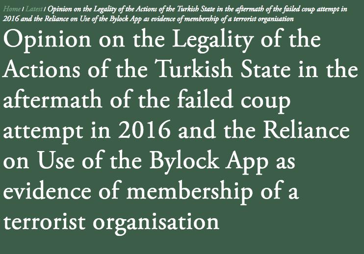 Azioni illegali della Turchia secondo il  parere giuridico  pubblicato in UK.