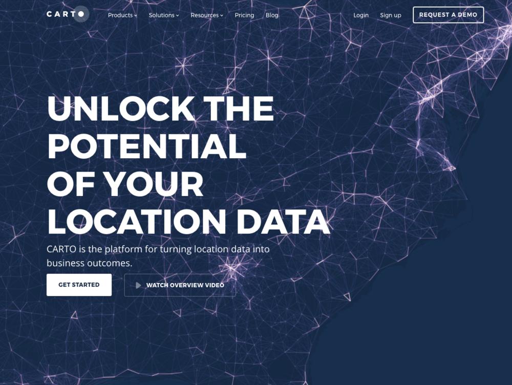 Carto  è un tool per la visualizzazione dei dati