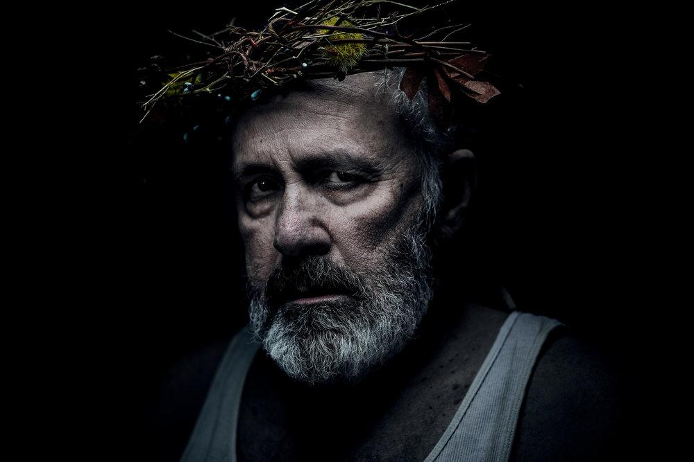 Rick Foucheux in the title role,  King Lear , WSC Avant Bard, 2017