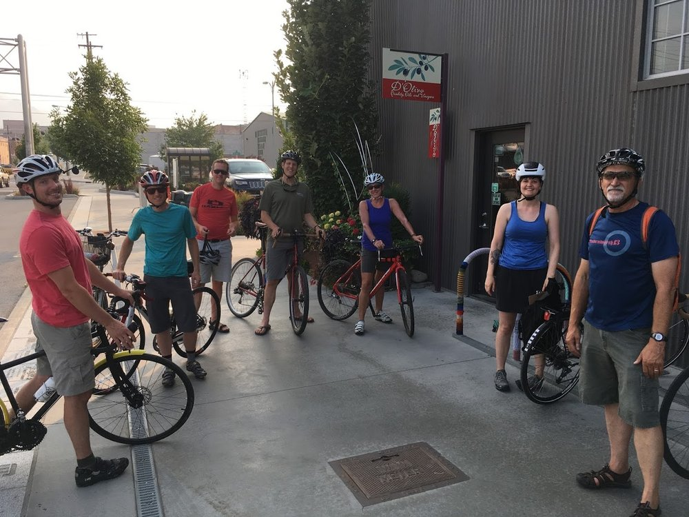Members of the RBAC on a bike audit in August 2017