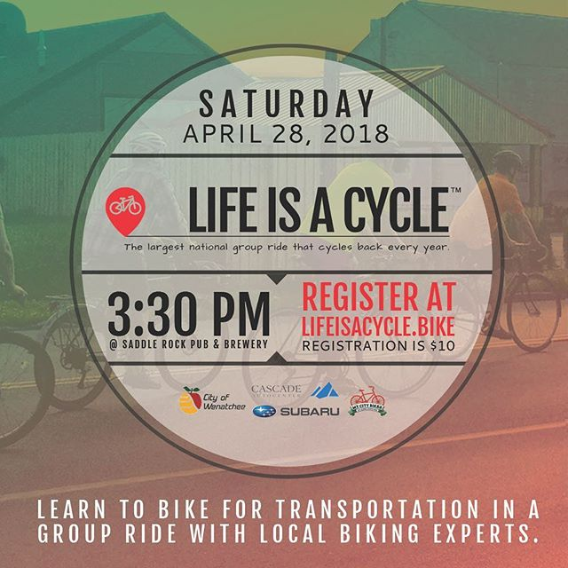 Coming up next week! Check out this event and others on our website (link in profile) #bikewenatcheevalley