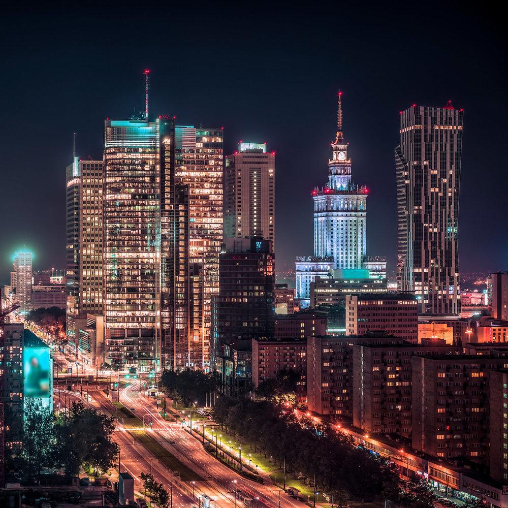 Photo: Rondo ONZ , Warsaw, Poland