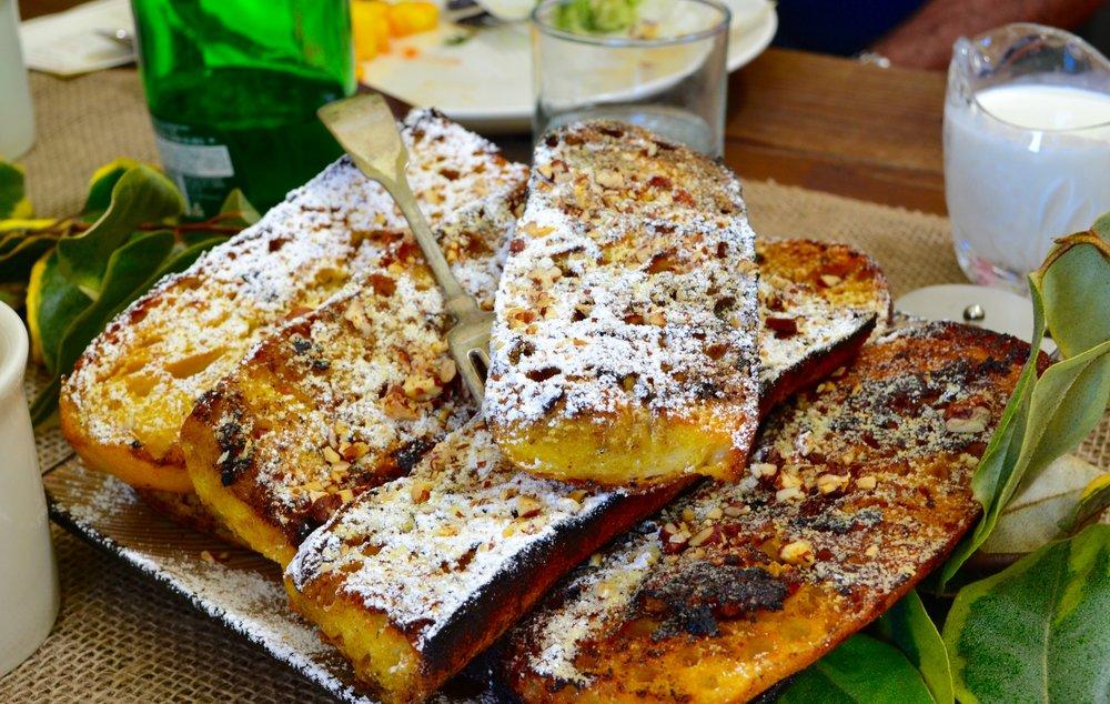 Bourbon Vanilla French Toast with farm fresh eggs