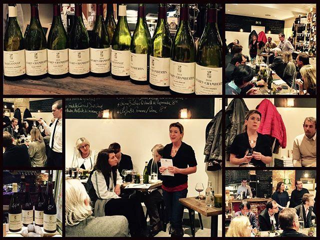 Formidable dégustation du domaine Marc Roy avec Alexandrine Roy hier soir à la CAVE des CLIMATS !!! #vivelevinetlesvignerons #bourgogne #gevrey #winelover4ever