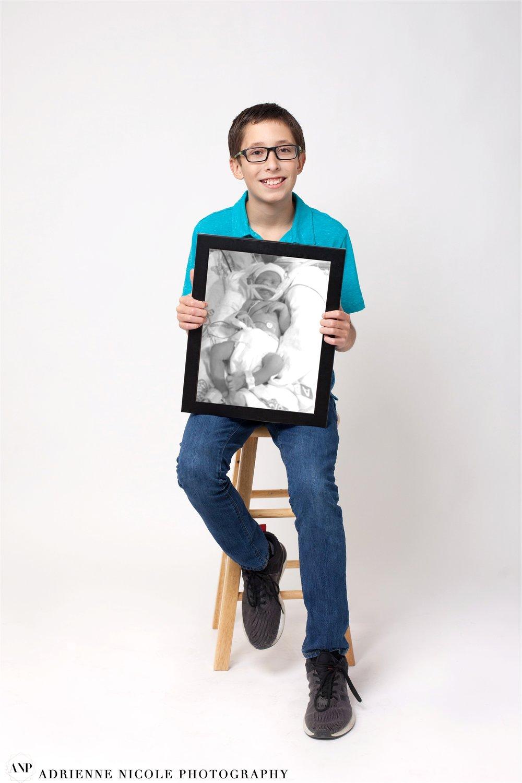 Jackson 13 years old, born at 33 weeks, 4 lbs 3oz, spent 2 weeks in NICU