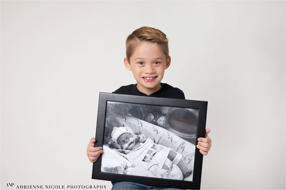 Brody 7 years old,  born at 28 weeks, 2 lbs 13oz, 69 days in NICU at St. Vincent Women's hospital.