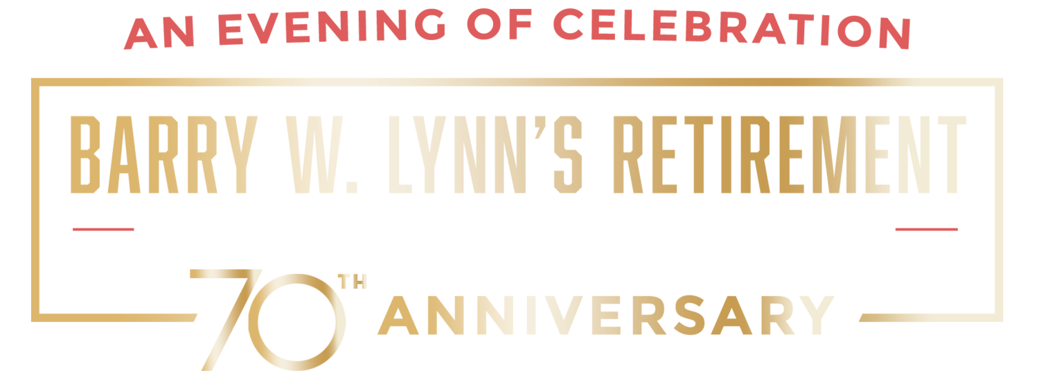 Barry W. Lynn's Retirement