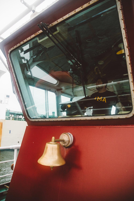Captain John Reeves on the tugboat Andrew McAllister. Jenny Rebecca Nelson © 2016