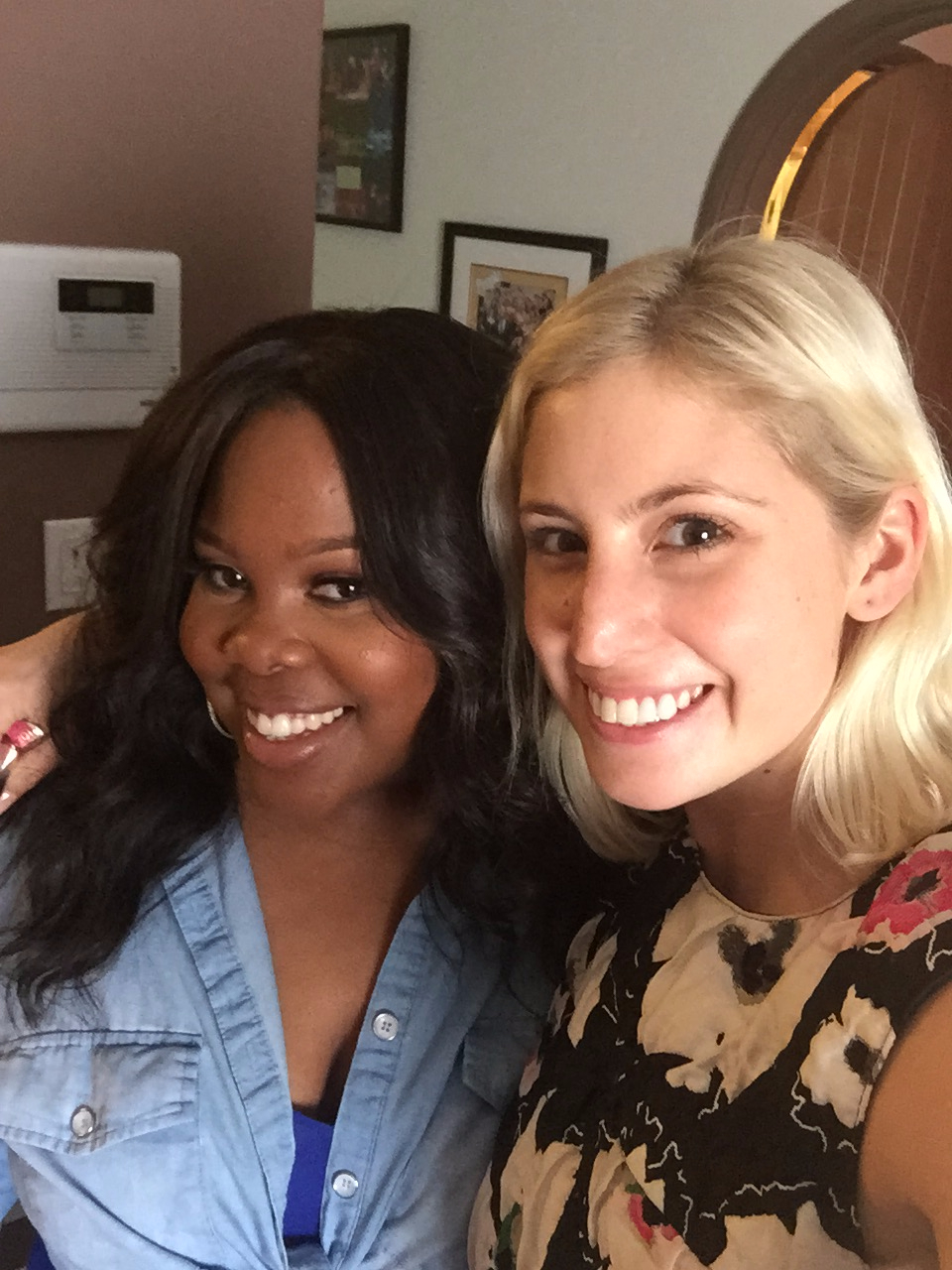 I was a total Gleek so this was a near and dear day for me. Amber Riley at her house in Los Angeles for Lane Bryant