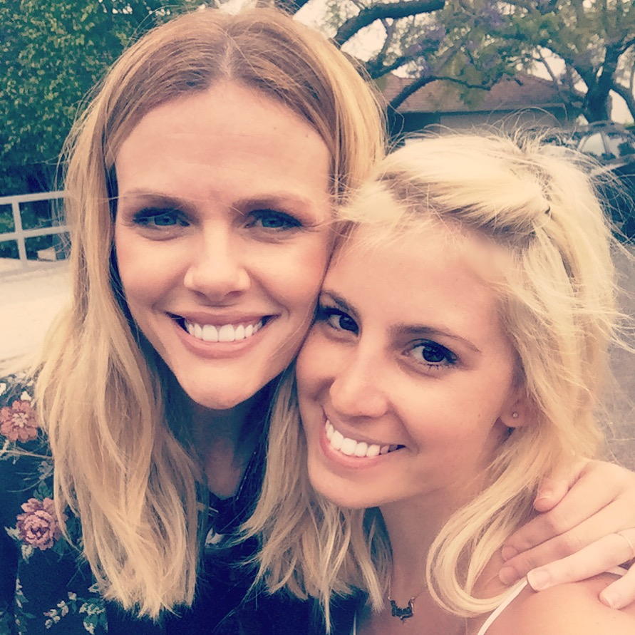 The lovely Brooklyn Decker on set of Chrysler Pacifikids campaign