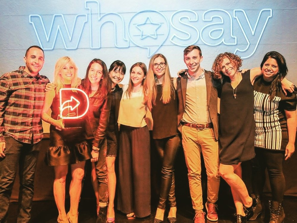 WHOSAY won 2016 Digiday's Content Marketing Team of the Year award