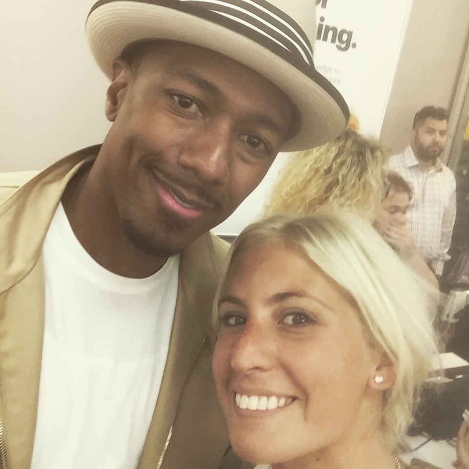 One of the many times working with Nick Cannon. I believe this photo was taken inside of a RadioShack :)