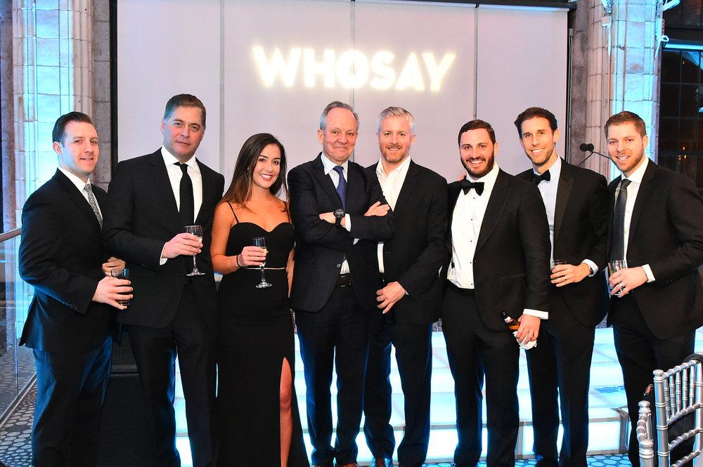 Team WHOSAY representing at the 212NYC Winter Gala 2018