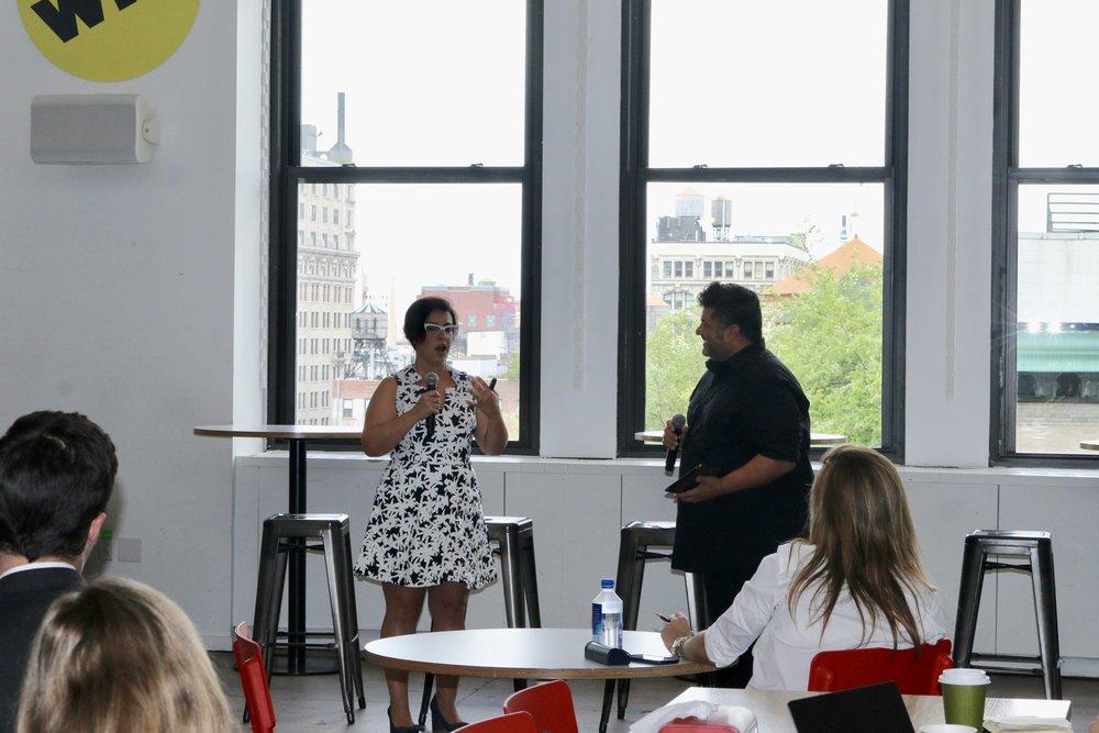 Magnarelli and Kontonis at Brand Innovators New York at BuzzFeed