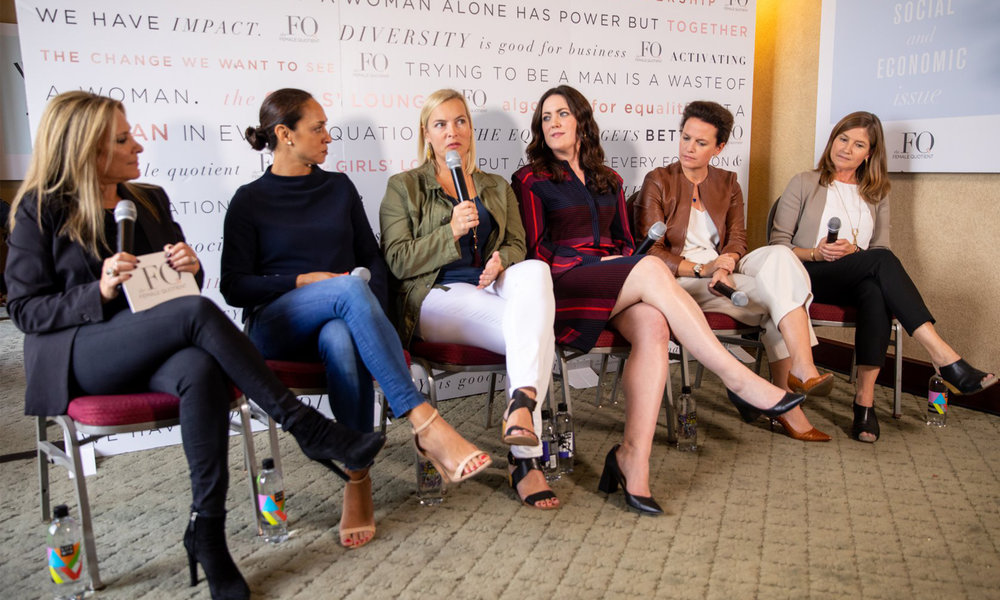 Zalis, Weiss, Brooks, Muldowney ,  Long, and Tracy at the Girls' Lounge ANA Masters panel