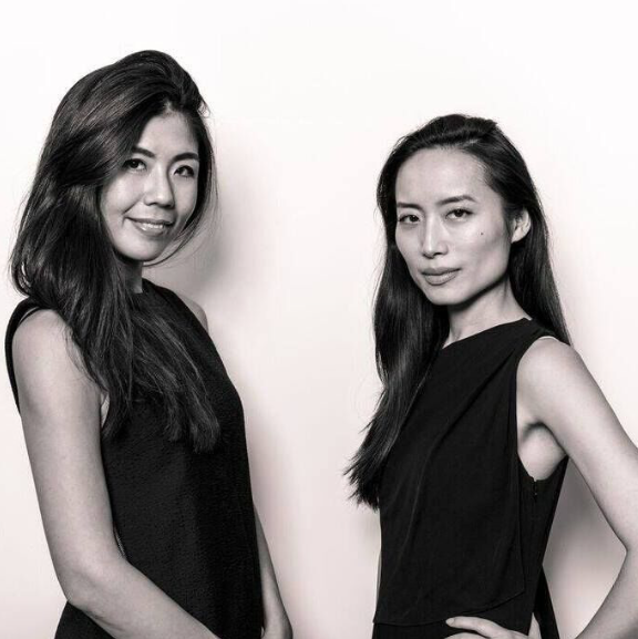 Jie Zheng Charles '05 (right) and her co-founder and close friend, Rie (left).