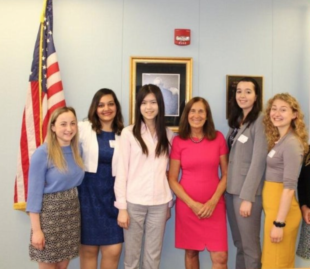 Kaitlyn (second to right) with her co-fellows during the 2017 Women in Finance Fellowship.